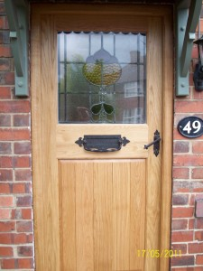 Brown oak door (2)